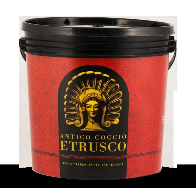 antico coccio etrusco moro