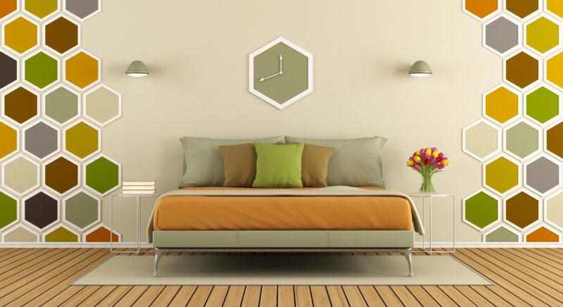 Come decorare la parete del letto tilas industria for Parete testiera letto