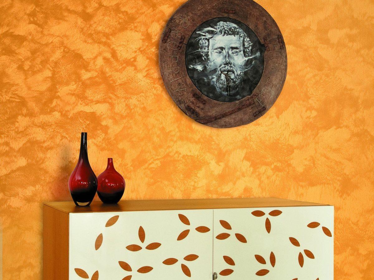 Pittura Stratosfera Oro applicata ad una parete di casa